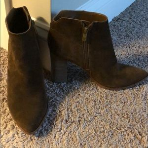 Chocolate suede booties